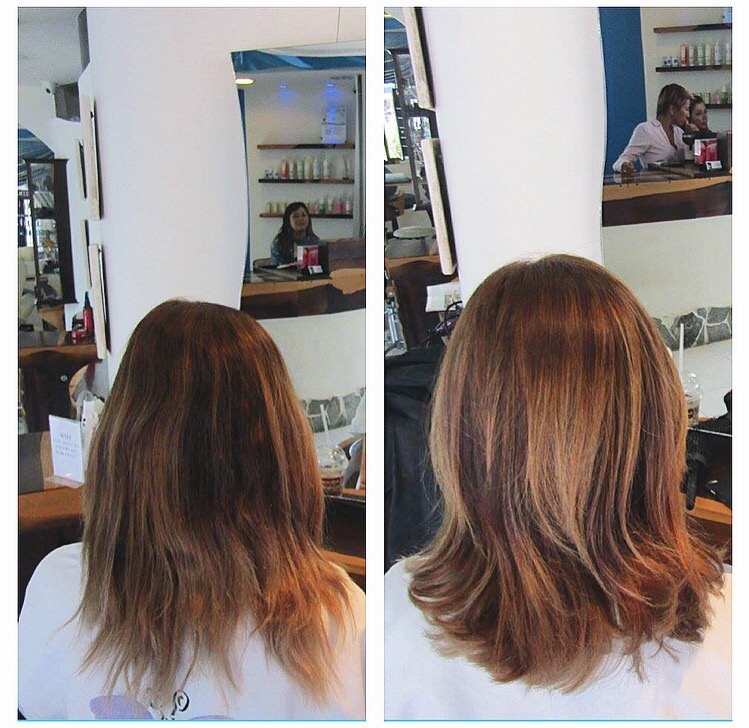 Before and after hair toning at le bleu salon in playa del carmen as a lot of you know from my previous blog posts i recently lightened my hair i live in playa del carmen mexico where it is always sunny which can turn urmus Gallery